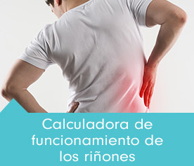 Calculadora de funcionamiento de los riñones