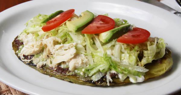 Receta Para Preparar Huaraches De Nopal Con Pollo