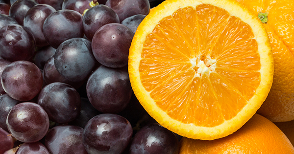 frutas uva naranja