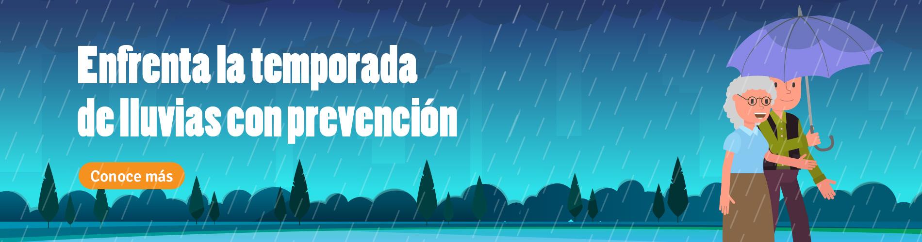 Enfrenta la temporada de lluvias con prevención